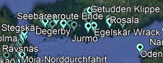 Titelbild Downloads, Koordinaten der Route