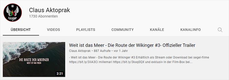Titelbild YouTube-Kanal von Claus Aktoprak